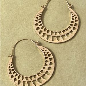 NWT Anthropologie gold hoop earrings